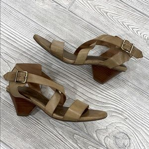 Abella Tan Strappy Sandals - sz 6